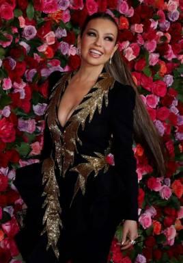 Así luce Thalía a sus 47 años y en pleno renacer mediático navegando en el reguetón