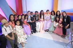 """La niñez del país expone talento en espacio """"Show del mediodía"""""""