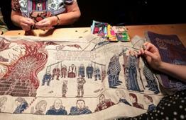 """Últimos toques para una tapicería """"Game of Thrones"""" de 90 metros"""