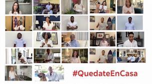 Profesionales de la comunicación, el deporte, la música y la salud se unen a la campaña #QuedateEnCasa