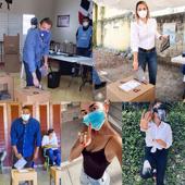 Famosos dominicanos asisten a votar con un llamado a respetar el distanciamiento social