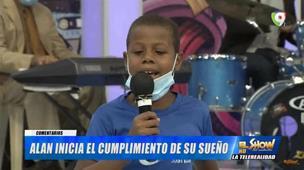 Alan debuta como artista en El Show del Medio Día