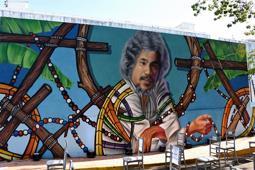 Johnny Pacheco recibe homenaje en Santo Domingo: una pintura suya en área de la Biblioteca Nacional